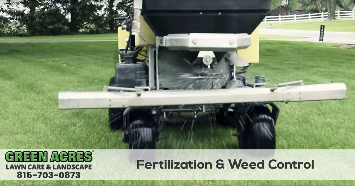 Lawn fertilization and weed control services.